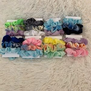 3/$20 Velvet Tie Dye Scrunchies Set